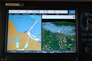 Elektronische Seekarte und 3D-Ansicht