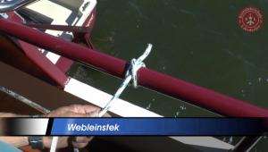 Webleinstek für den Bootsführerschein üben
