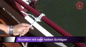 Knoten für den Bootsführerschein: Rundtörn mit zwei halben Schlägen